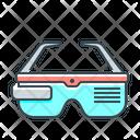Virtual Glasses 3 D Glasses Virtual Goggles Icon