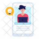 Online Learning E Learning Virtual Learning Icon