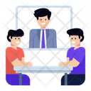 Online Seminar Video Chat Online Meeting Icon
