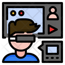 Augmented Reality AR And Virtual Reality VR Filled Outline Design Icon Set Icon