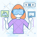 Virtual Assistant Vr Glasses Vr Shades Icon