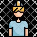 Virtual Reality Man Icon