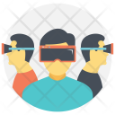 Virtual Reality Augmented Icon