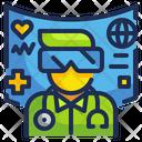 Virtual Reality Medical Technology Icon