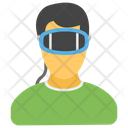 3 D Glasses Virtual Reality Smart Glasses Icon