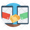 Virtual Handshake Agreement Handclask Icon