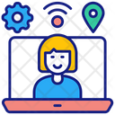Virtual Workspace Workfromhome Workspace Icon