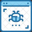 Website Virus Bug Icon