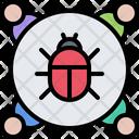 Virus Bug Hacker Icon