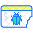 Website Virus Money Icon