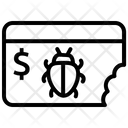 Website Virus Money Icon