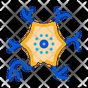 Microscopic Virus Bacterium Icon