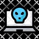 Hacking Laptop Virus Icon