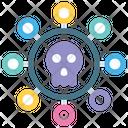 Bug Computer Skull Icon