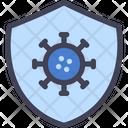Virus Shield Immune Icon