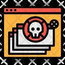 Virus Computer Theft Icon