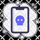Mobile Virus Skull Icon