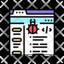 Virus Coding Development Icon