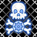 Dead Virus Coronavirus Skull Icon