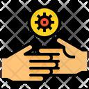 Hand Coronavirus Touch Icon