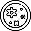 Petri Dish Virus Icon