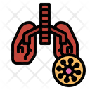 Virus In Lung Icon