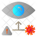 Virus Infection Through Eye Icon