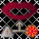 Virus Infection Through Mouth Icon