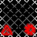 Lip Corona Virus Infection Icon