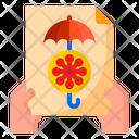 Virus Insurance Paper Icon
