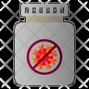 Virus Medicine Bottle Icon