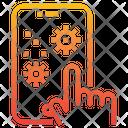 Hand Coronavirus Smartphone Icon