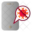 Phone Covid Infection Icon