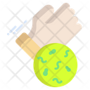 Virus On Hand Icon