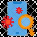 Virus On Mobile Coronavirus Smartphone Icon