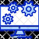 Monitor Cog Wheels Control Icon
