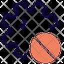 Virus Prohibited No Corona Banned Corona Virus Icon