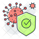 Virus Protection Bacteria Disease Icon