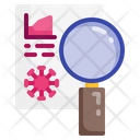 Flat Virus Glass Icon