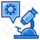 Filled Line Virus Glass Icon