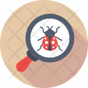Bug Virus Magnifier Icon