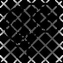 Line Virus Glass Icon