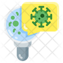 Flat Virus Glass Icon