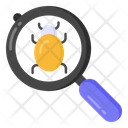 Bug Search Virus Search Bug Tracking Icon