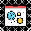 Virus Season Calendar Icon