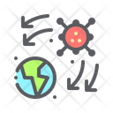 Virus Spread Icon