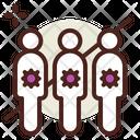 Community Virus Spread Icon
