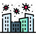 Virus Spread In City Icon