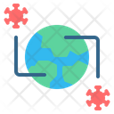 Virus Spread In World Icon