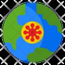 Virus Covid Global Icon